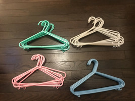 Lot of 34 Fashion Baby Small Kids Child Hangers Children Suitable Hook H... - $23.75