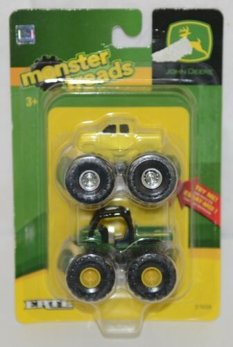 John Deere TBEK37658 Two Miniature Monster Treads Yellow Truck Green Gator