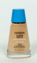 Covergirl Clean Makeup 1 fl oz Sensitive, Matte or Normal Choose Shade a... - $2.99