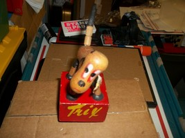 Vintage Original Kohner Wood Jointed Dog Trix Push Up Puppet Toy 1950's - $10.00