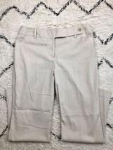NWT Women's Ann Taylor Curvy Boot Leg Dress Pants Striped White Beige Si... - $36.12