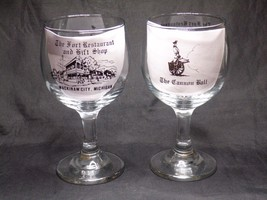 Vintage The Fort Restaurant & Gift Shop Mackinaw City Michigan Glass Gob... - $24.99