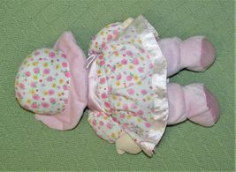 "Kids Preferred Plush BABY DOLL Pink 12"" Blue Eyes Satiny Flower Dress Hat 2012 image 4"