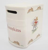 Royal Doulton Bunnykins Figural Book Bank Porcelain Cowboy Bunny w Stopper - $18.80