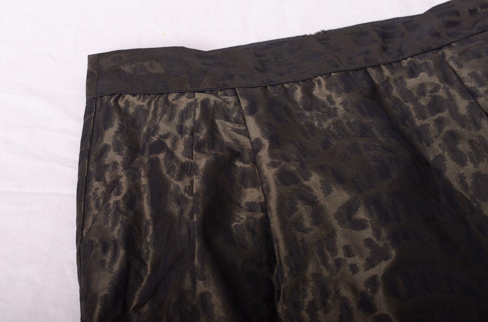 GAP Brown Leopard Print Mini Skirt Size 8