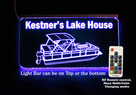 Personalized Pontoon Boat Sign LED Man Cave Sign- Garage Sign, Bar sign - $96.03+