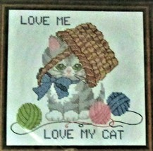 Candamar Designs New Sealed Cross Stitch Love Me Love My Cat Kitten Free Ship - $23.50