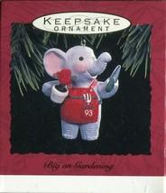 1993 - New in Box - Hallmark Christmas Keepsake Ornament - Big on Gardening - $3.95