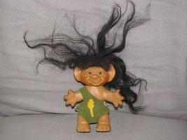 "Uneeda Wishnik Troll Doll Caveman, Dark Brown Hair 6"" - $49.49"
