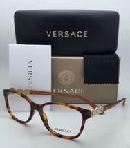 New VERSACE Eyeglasses VE 3181-B 5074 53-15 140 Honey Tortoise Frame w/ Crystals