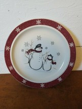 "Royal Seasons SNOWMAN Christmas Stoneware 10"" Plate - $9.89"