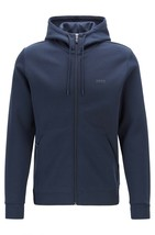 Hugo Boss Men's Sweater Zip Up Hoodie Sweatshirt Track Jacket Navy