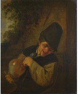 Adriaen van Ostade - A Peasant holding a Jug and a Pipe - Poster Wall Ar... - $22.99+