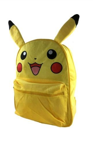 Miraculous New Pokemon Pikachu Large School Backpack And 43 Similar Items Gmtry Best Dining Table And Chair Ideas Images Gmtryco
