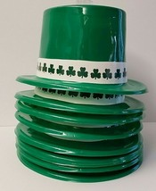 St Patrick's Day Top Hat W/Shamrock Band - Plastic - Set Of 9 - NWT - €14,09 EUR