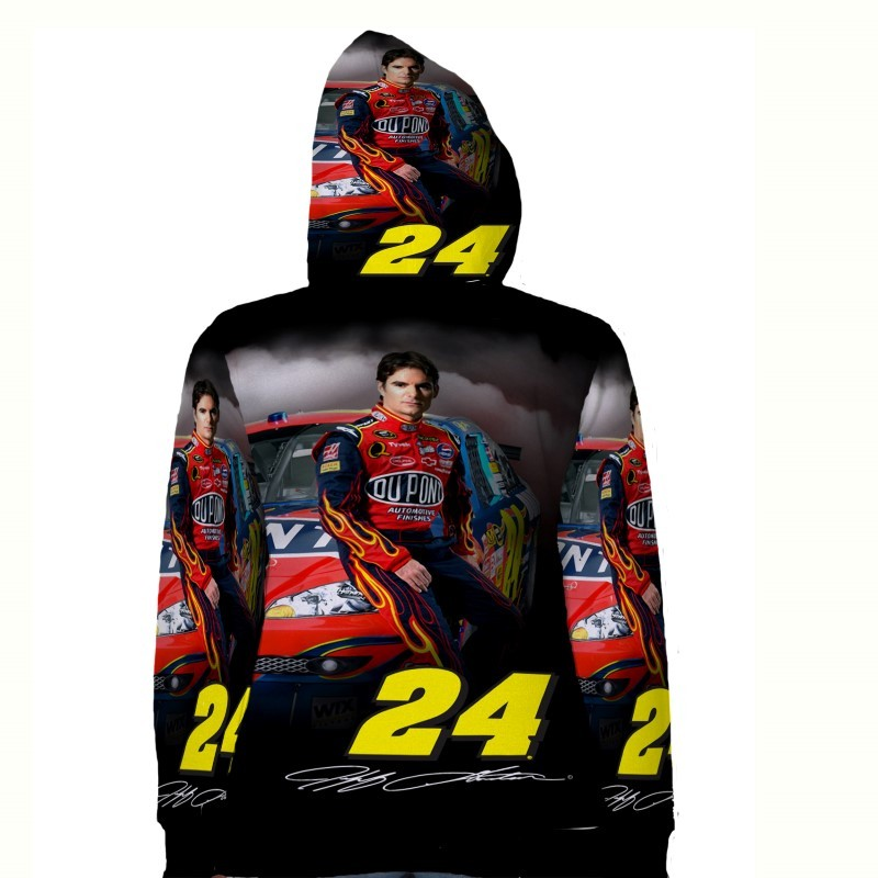 Jeff gordon hoodie fullprint for women back