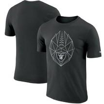 Oakland Raiders NFL 2018 Icon Performance Dri-FIT T-Shirt XL/Black/Nike/... - $18.95