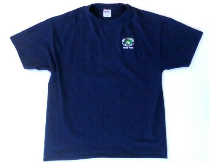 1998 Big Stitch Golf Tournament Men's T-Shirt XXL Blue Hanes Beefy-T