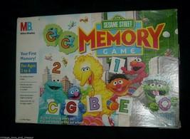 Vintage 1991 Sesame Street Original Memory Matching Card Game 100% Complete Box - $21.04