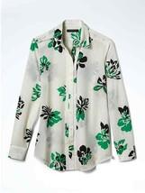 Banana Republic Easy Care Dillon-Fit Pleated Yoke Shirt White Floral Sz PL, NWT - $66.69