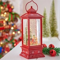 "11"" LED Snowman & Train Lantern Water Globe - $69.98"