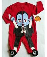 NEW Baby Boy 0-3M Red Glow n Dark Frankenstein Halloween Sleeper Costume... - $11.95