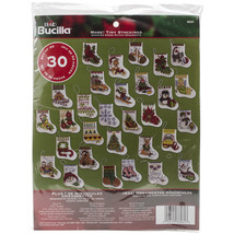 "Bucilla Counted Cross Stitch Kit 2.5""X3"" 30/Pkg-Mo - $23.79"