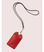 Kate Spade Sylvia Lanyard Card Case Leather ~NWT Red~ - $57.92