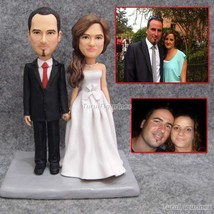 porcelain wedding cake toppers wedding cake topper humor deer soccer bab... - $148.00