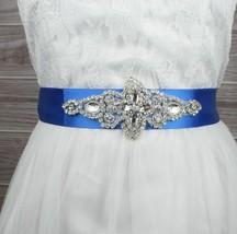 Bridal Belt Vintage Style Rhinestone Crystal Ribbon Dress Wedding Sash - $12.99