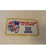 Bowlers Club of Illinois Team High Series Patch from the 90s Gold Border - $7.43