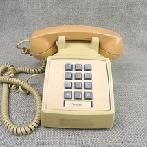 Vintage Western Electric Bell Yellow Push Button Desk Phone 2500DM w/G6 ... - $21.78