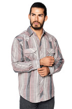 LW Men's Classic Checkered Striped Western Rodeo Pearl Snap Button Up Shirt image 6