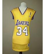 Vintage Champion NBA Shaquille Oneal Los Angeles Lakers Jersey  Large #4... - $69.29