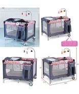 Foldable 2 Color Baby Crib Playpen Playard - $138.13