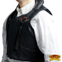 Hilason Leather Bareback Pro Rodeo Bull Riding Vest U-01ND - $148.95