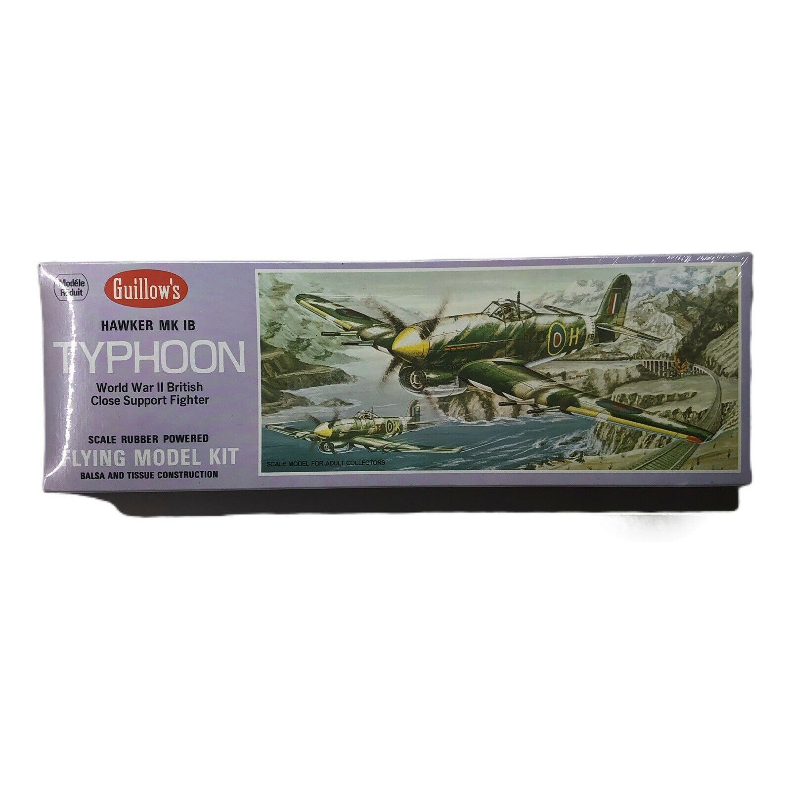 Guillows WWII Hawker MK Typhoon British Support Fighter Flying Plane Model Kit  - $29.99