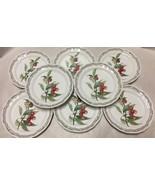 "Noritake Casual Gourmet Harvest 7941 Set of 8 Salad Plates 8"" Green Laurel - $47.24"