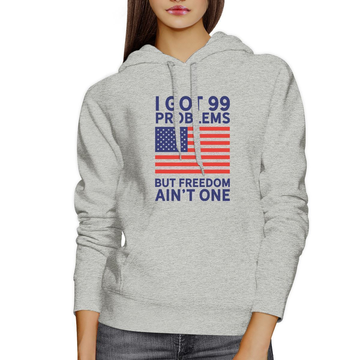 Freedom Ain't One Unisex White Hoodie For Fourth Of July image 3