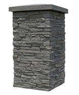 """NextStone Slatestone 16"""" x 16"""" x 30"""" Faux Polyurethane Stone Column Wrap... - €102,22 EUR"""