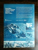 Vintage 1969 Ford 3 Plow Blue-Key 3000 Farm Tractor Original Full Page Ad - $5.98