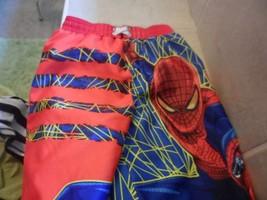 Marvel Spiderman Swim Trunk Swim Shorts Boys Sz 5T,red Blue Yellow - $5.51