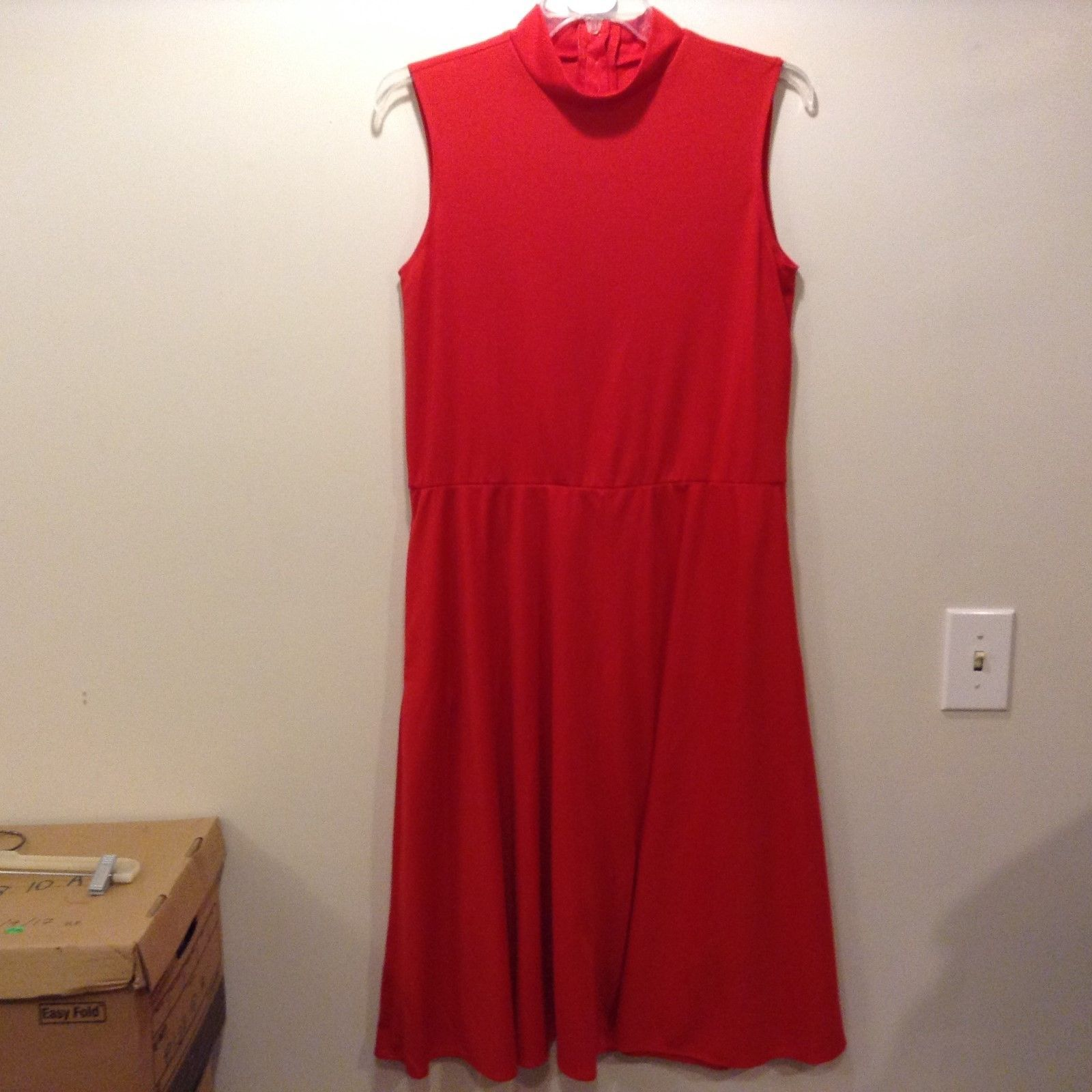 Alicia Sleeveless Light Red Long Dress Sz 14