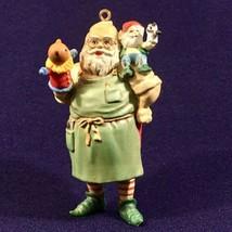 "Vintage Heirloom Collection 1989 ""Santa in the Workshop"" Christmas Ornam... - $10.36"