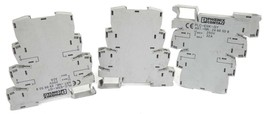LOT OF 3 PHOENIX CONTACT PLC-ESK-GY TERMINAL BLOCKS ART. NR. 2966508 25V, 32A