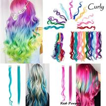 Long Natural Hair Clip In Rainbow Hair Extensions image 3