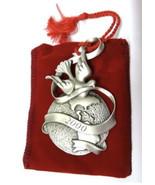 2000 Avon Pewter Christmas Ornament Peaceful Millenium Original Box & Ve... - $23.33