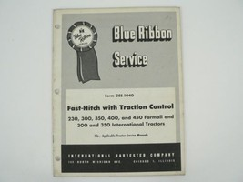 Fast Hitch Traction Control Service Manual Farmall International Harvest... - $50.00