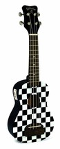 "Kohala ""TIKI"" Checkerboard Soprano Size Ukulele with Built in Tuner #KT-ST - $49.95"