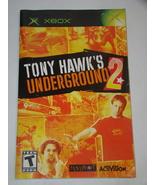 XBOX - TONY HAWK'S UNDERGROUND 2 (Replacement Manual) - $8.00